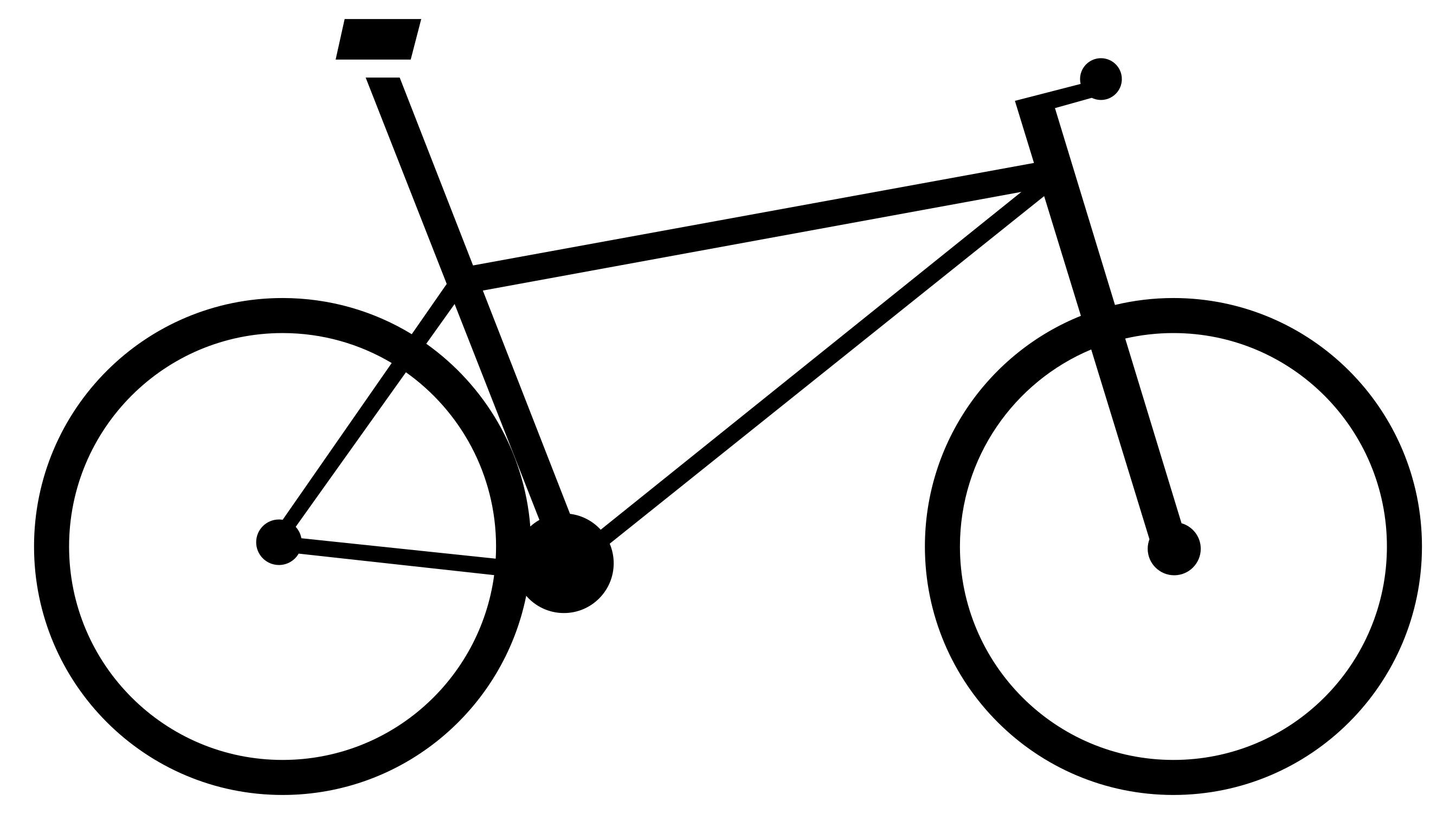 2686x1502 Bicycle Icon Silhouette Clipart