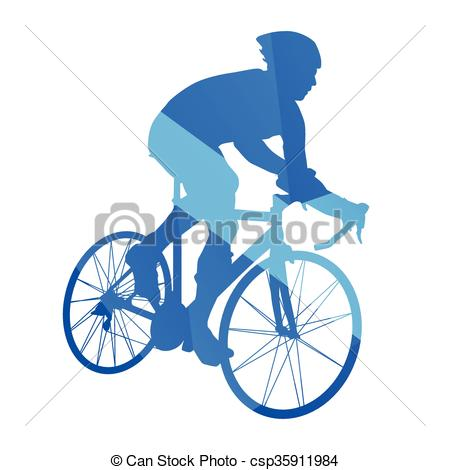 450x470 Road Bicycle Racing, Cycling Abstract Vector Silhouette Vector