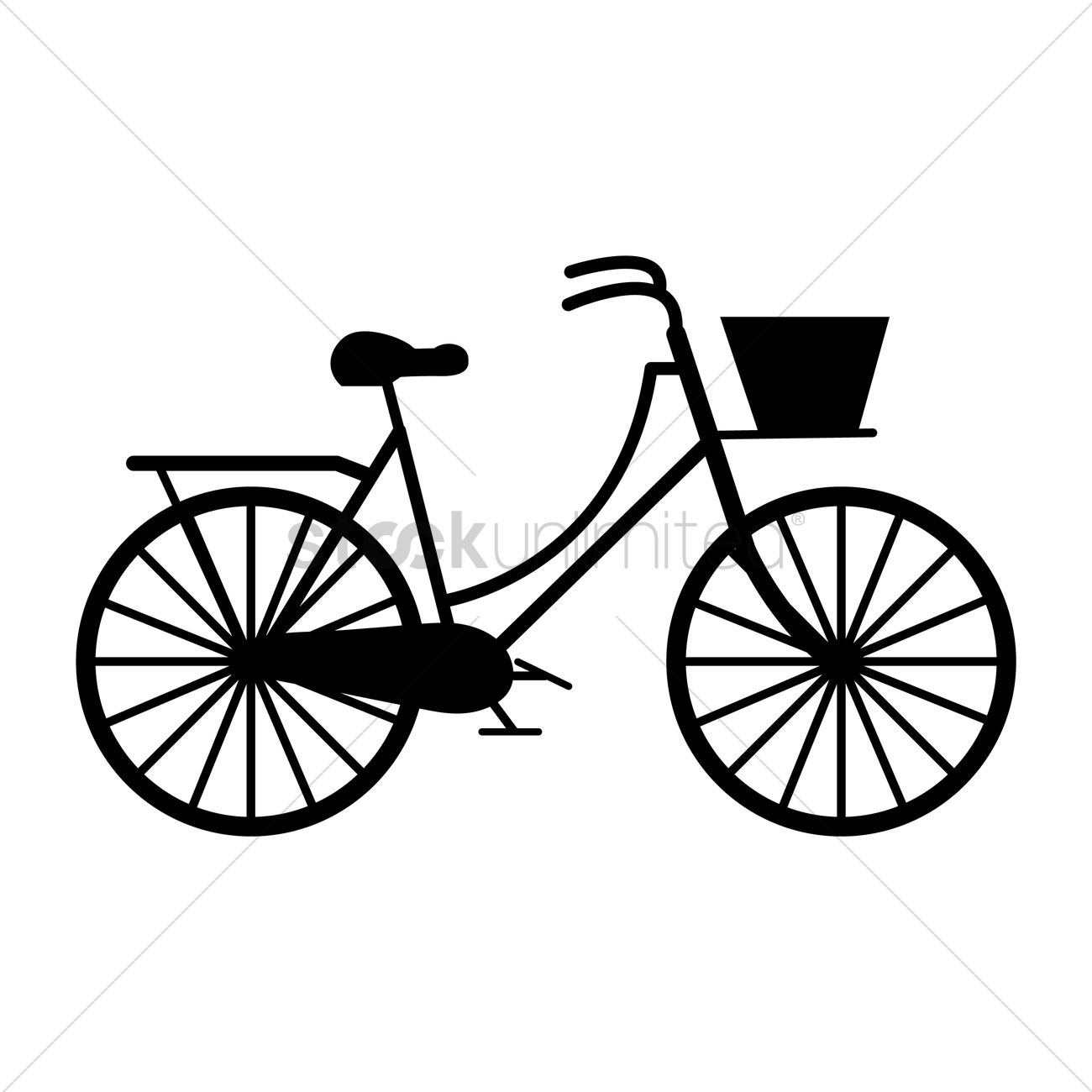 1300x1300 Silhouette Of A Bicycle Vector Image