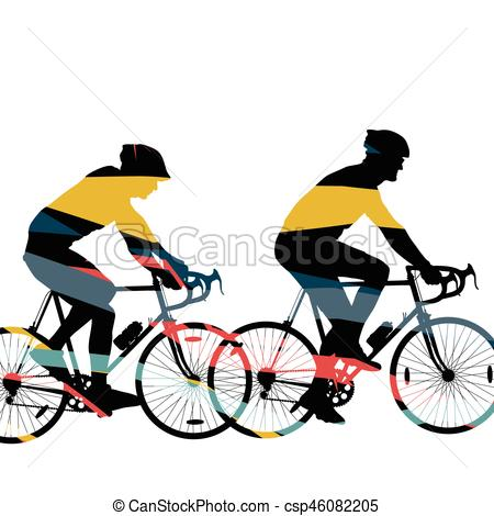 450x470 Sport Road Bike Riders Bicycle Silhouette In Abstract Mosaic