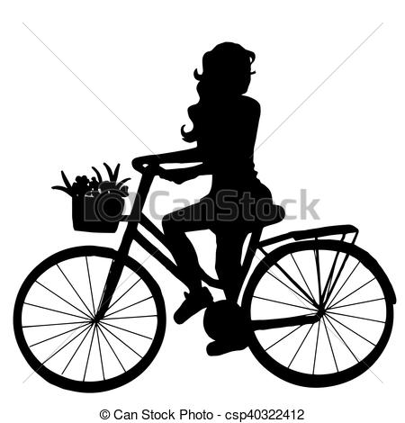 450x470 The Girl On The Bike. High Quality Original Trendy Vector