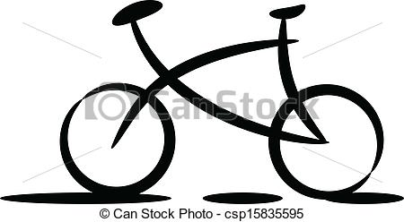 450x248 Bicycle Silhouette. Black Silhouette Of Bicycle On White Eps