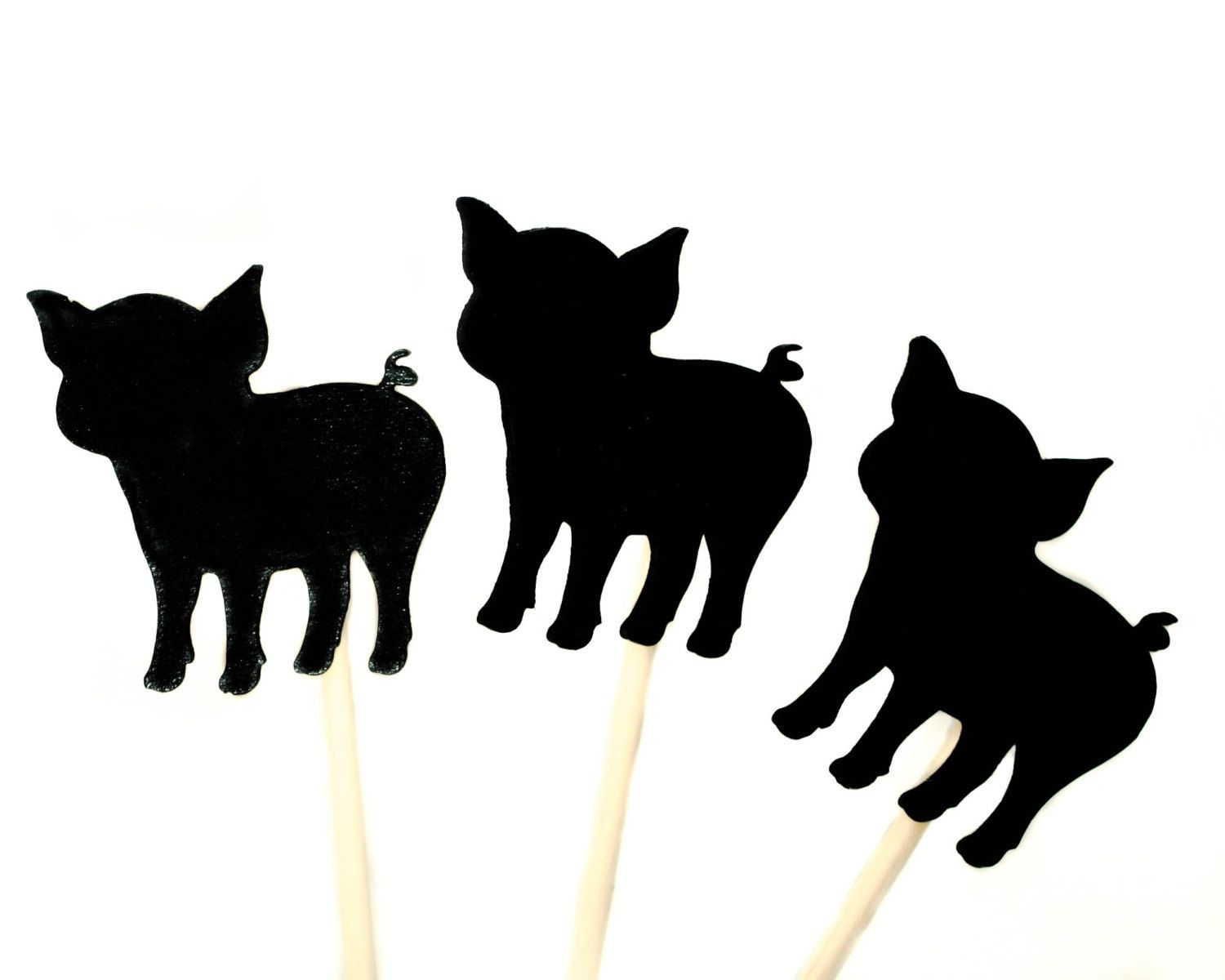 1500x1200 Three Little Pigs And Big Bad Wolf Shadow Puppets Wooden