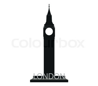 320x280 Famous British Clock Tower Big Ben Stock Vector Colourbox