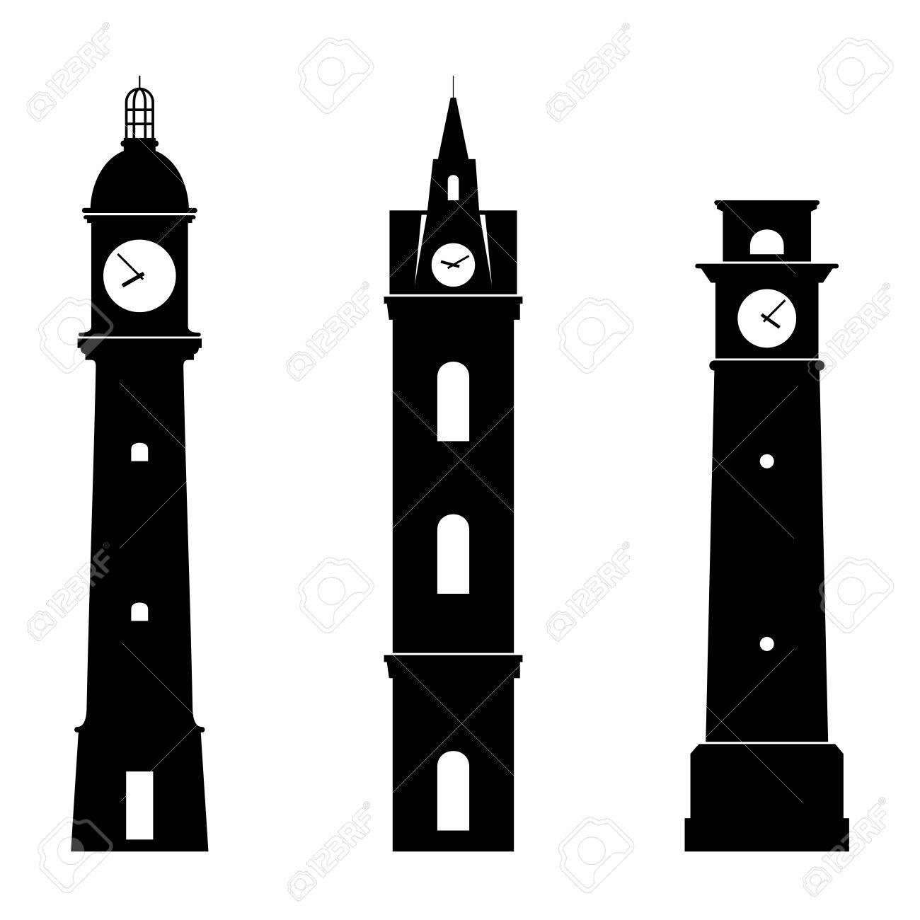 1300x1300 London Big Ben Watchtower Thin Line Stock Vector 570752818