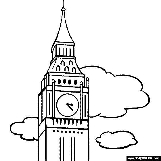 560x560 London Clock Tower Clip Art