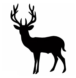 295x300 Big Buck Deer Silhouette Vinyl Decal Sticker Graphic