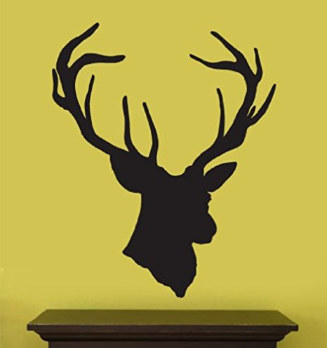 466x496 Vinyl Wall Art Decal Sticker Deer Head Statue