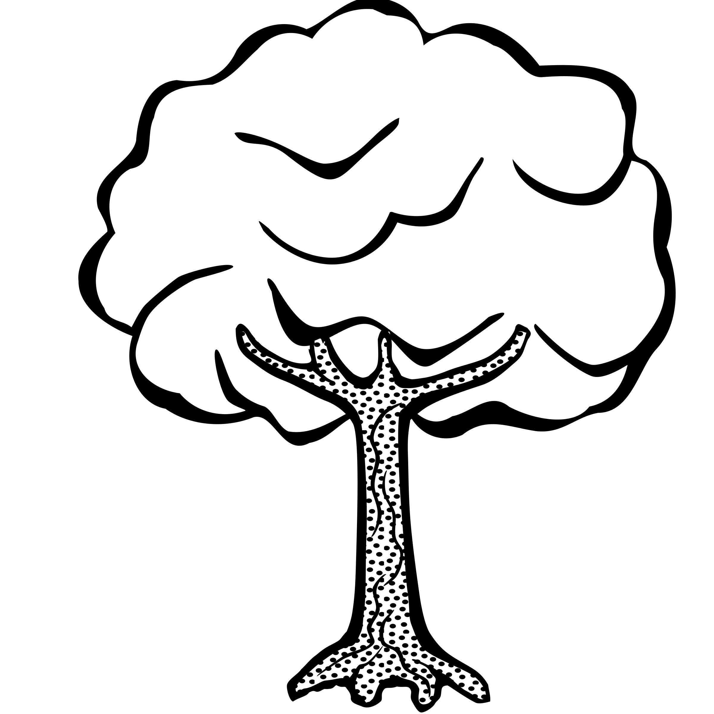 2400x2400 Extremely Creative Tree Clipart Black And White Mickey Mouse Head