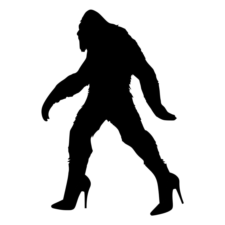 1500x1500 Bigfoot Sasquatch In High Heels Die Cut Decal Car Window Wall