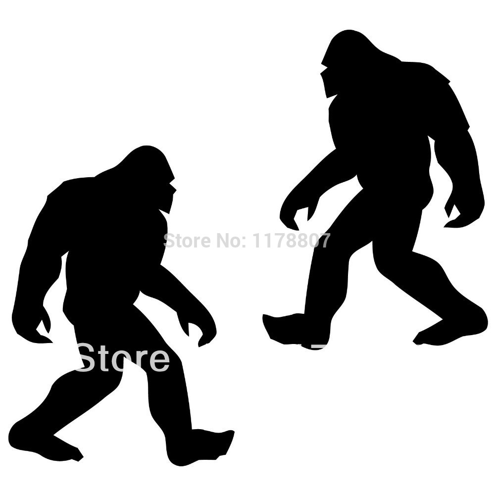 1000x1000 Bigfoot Sasquatch Sticker Decal Nw Wa Conspiracy Funny Car Window