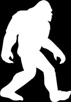 248x355 Bigfoot Silhouette White Vinyl Carlaptopwindowwall