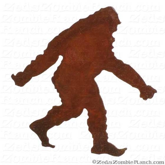 560x560 Bigfoot, Sasquatch Or Yeti Silhouette Garden Stick