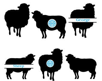 340x270 Sheep Silhouette Etsy