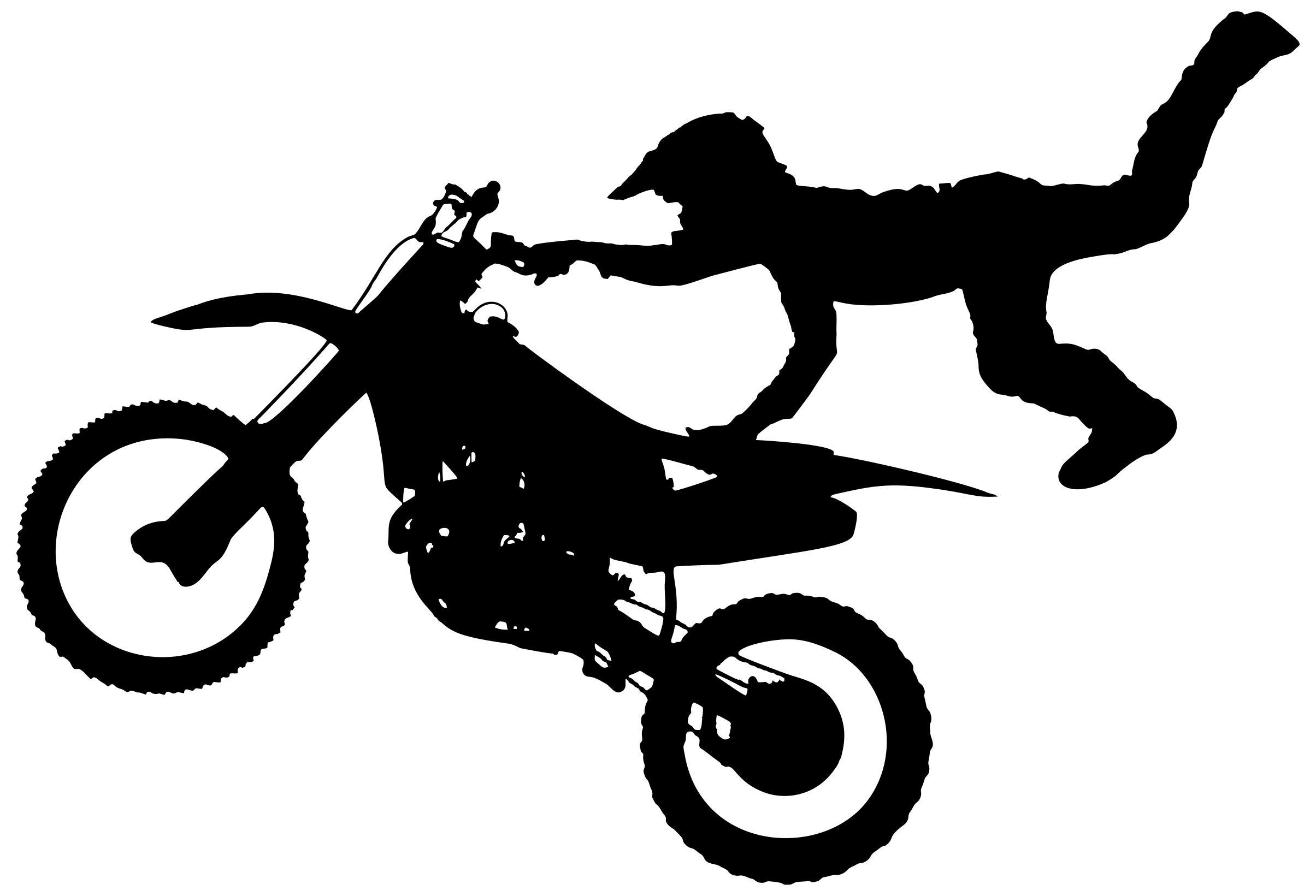 2409x1641 Motocross Bike Aerial Stunt Silhouette Clipart
