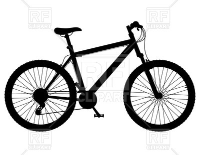 400x311 Silhouette Of Mountain Bike With Gear Shifting Royalty Free Vector