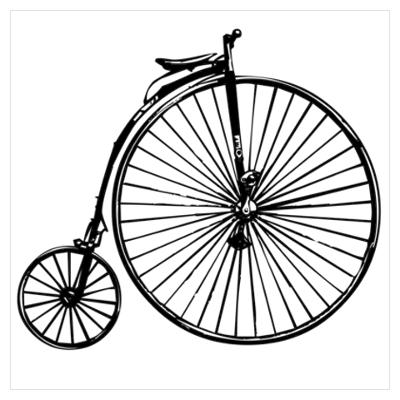 400x400 Vintage Bike Silhouette Clipart Collection