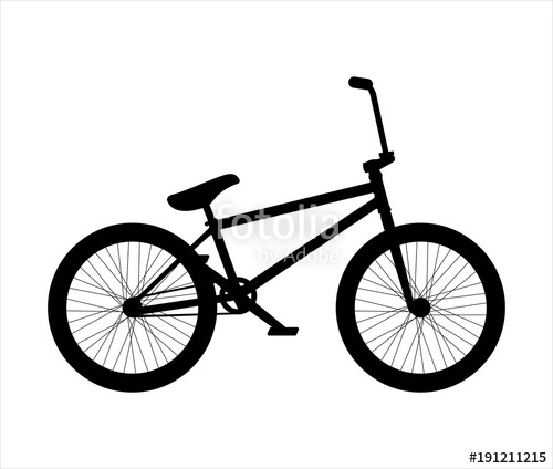 500x424 Bmx Bike Silhouette Stock Image And Royalty Free Vector Files