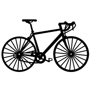 300x300 Bicycle Silhouette Clipart