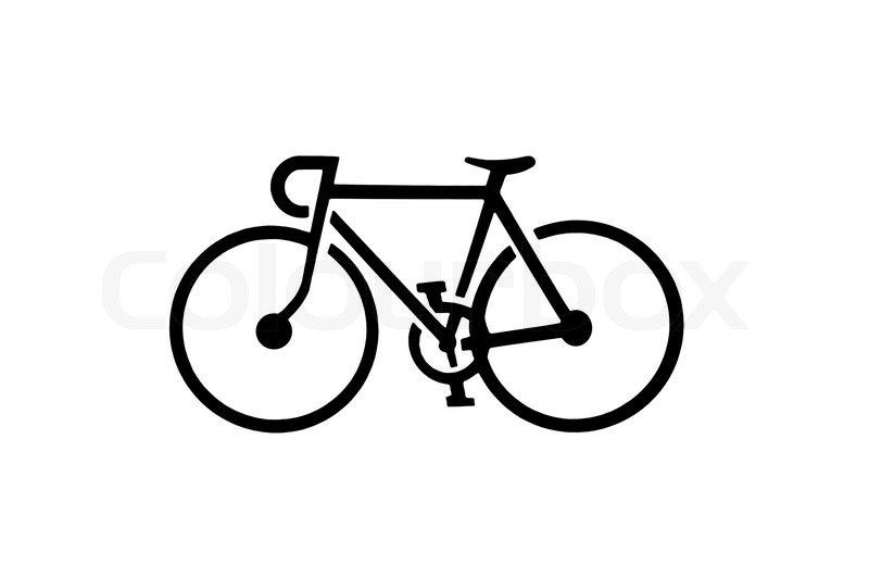 800x531 Bicycle Silhouette Stock Photo Colourbox Silhouette Images