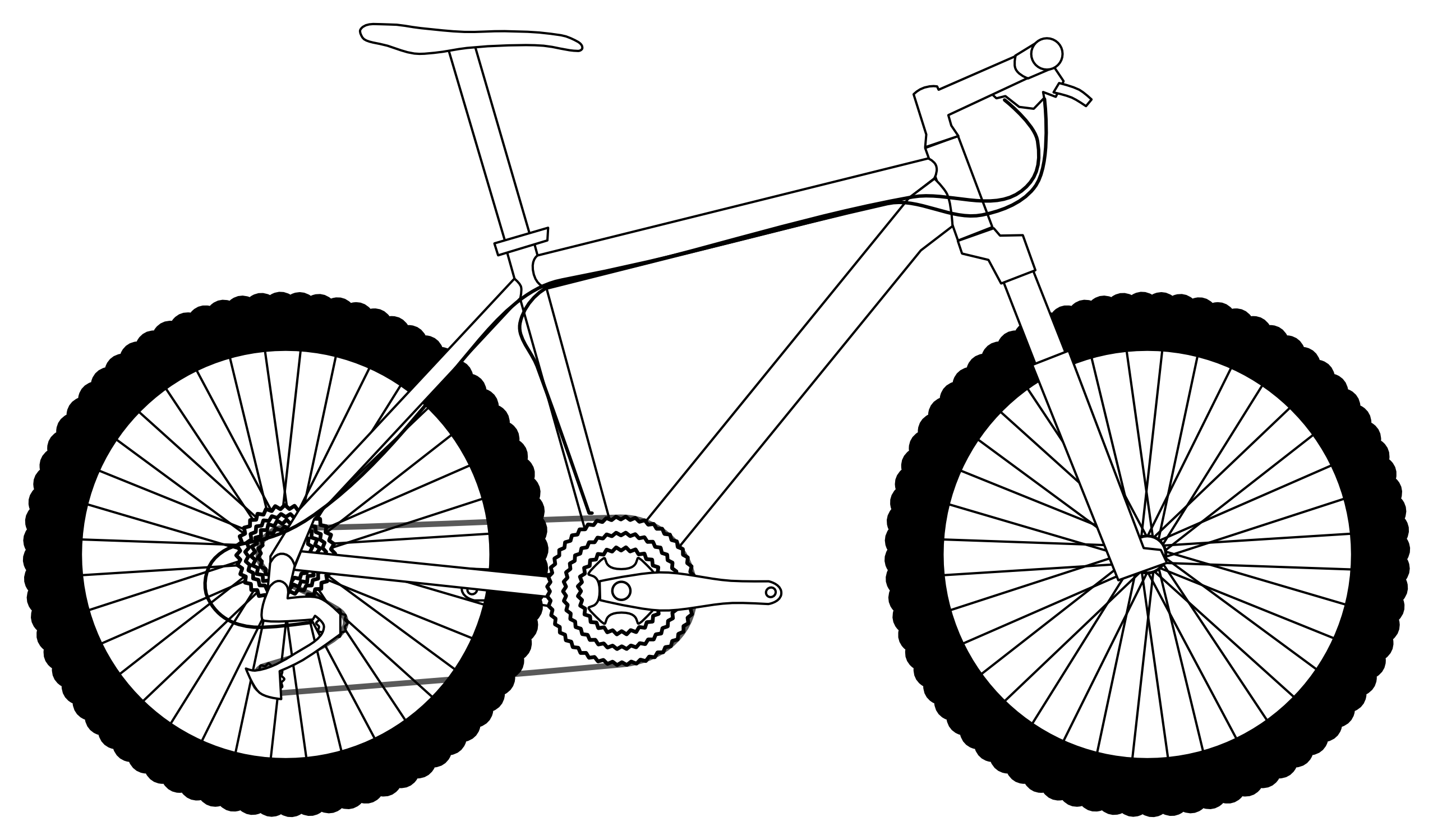 2555x1498 Mountain Bike Clip Art Clipartlook
