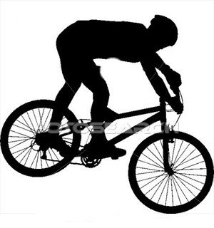 300x320 Mountain Biking Clipart