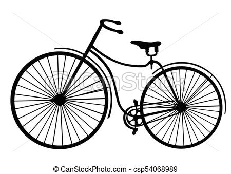 450x339 Rover Safety Bike Silhouette Isolated On White Background