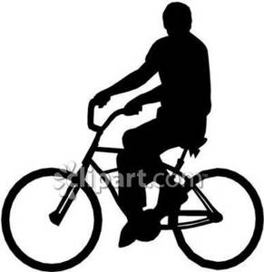 291x300 Silhouette Of A Man Riding A Bike