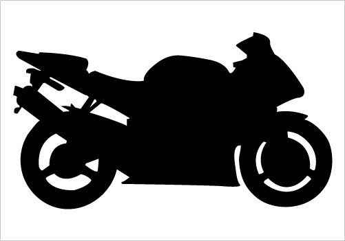 501x351 Sports Bike Silhouette Graphics Silhouette Clip Art