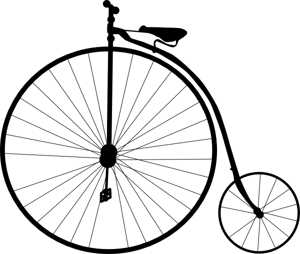600x508 Bicycle Silhouette Clipart