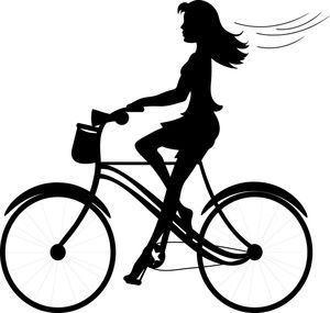 300x285 Girl Clipart Image Silhouette Of Pretty Young Girl Riding