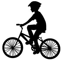221x203 Clipart Of Kids Riding Bikes
