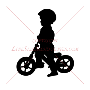 300x300 Silhouette Clipart Of Kids Riding Bikes