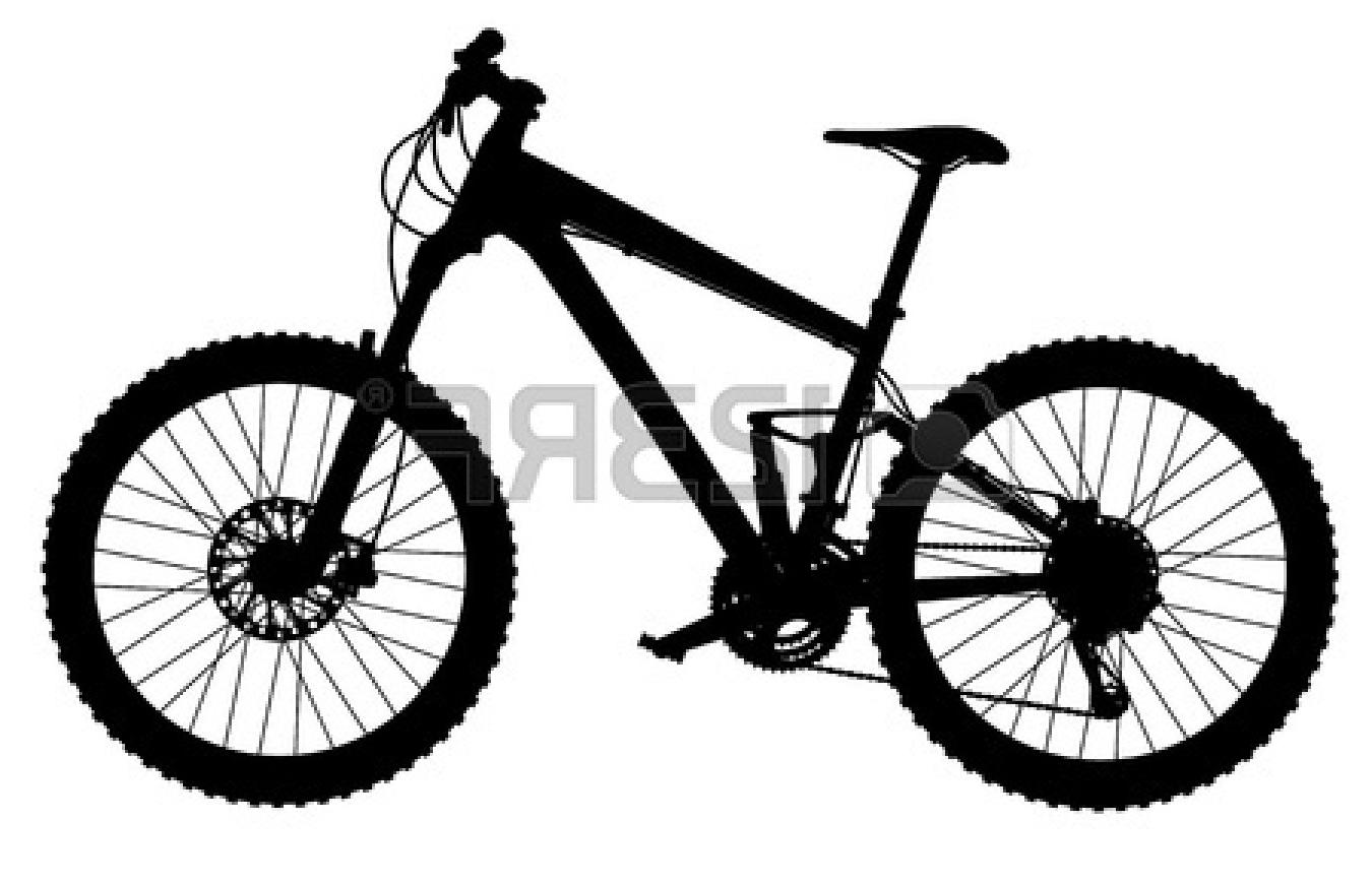 1350x870 Best Free Mountain Bike Clipart Silhouette Image