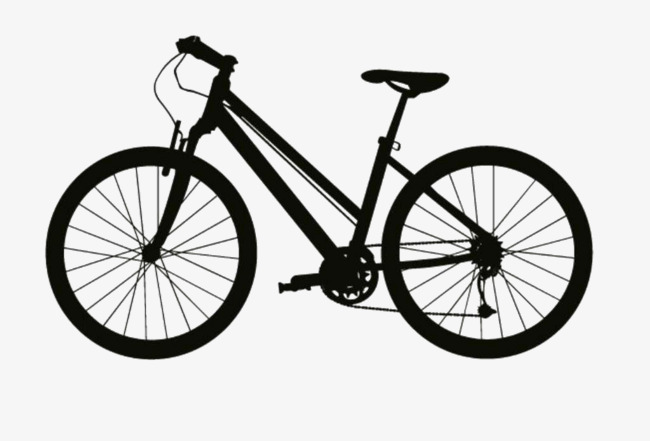 650x441 Bike Silhouette, Bicycle, Black, Silhouette Png Image And Clipart