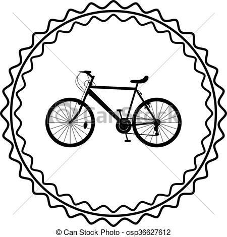 450x470 Bike Silhouette Vector Vector Clip Art