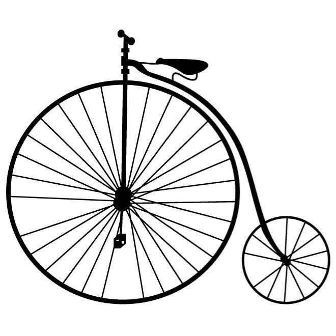 660x660 High Wheel Bicycle Vector