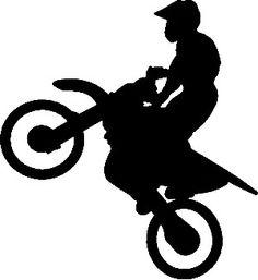 236x257 Dirt Bike Silhouette Vector