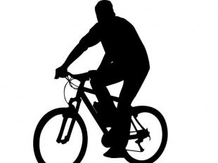 310x233 Silhouette Of A Man Riding A Bike Free Vectors Ui Download