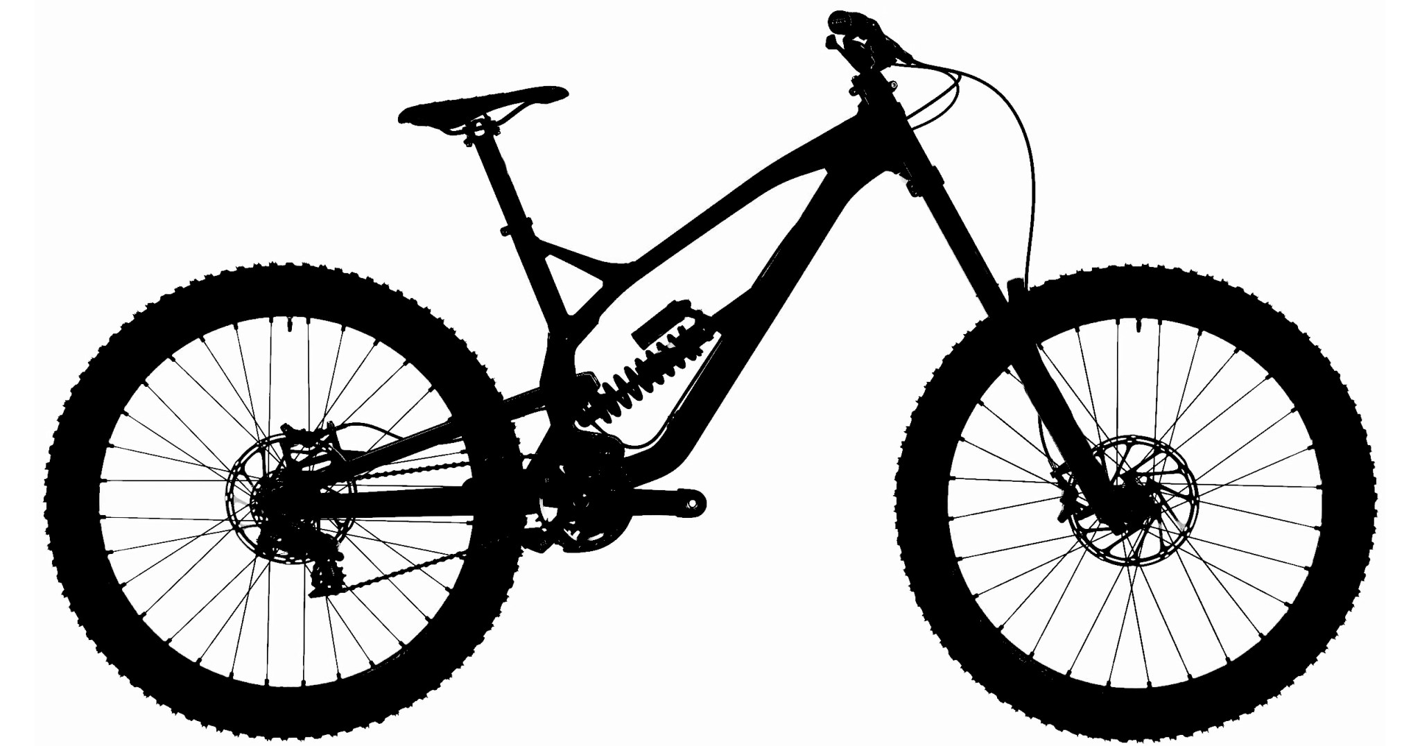 2048x1076 Guess The Downhill Bike From Its Silhouette Tattoo Ideas