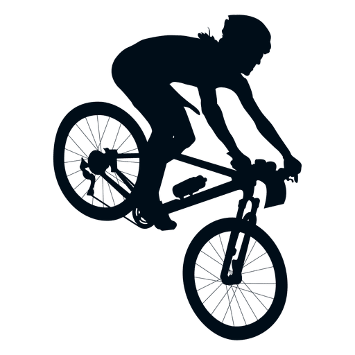 512x512 Man Biking Silhouette