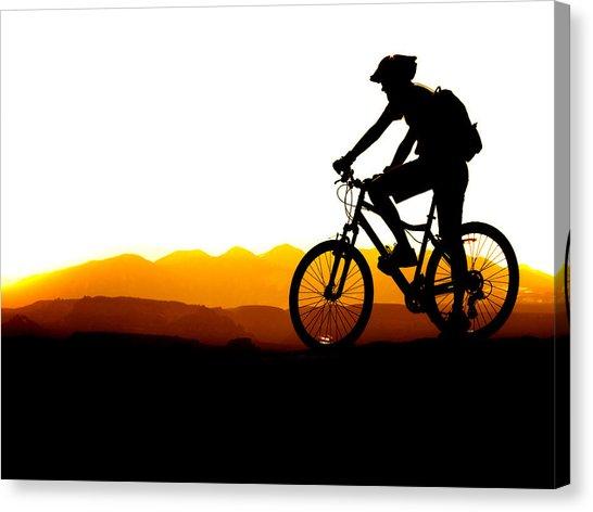 546x472 Mountain Biking Silhouette Photograph By Lane Erickson