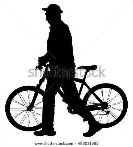 425x470 Pushbike Clipart Silhouette