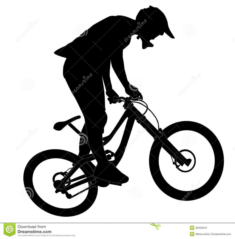 1300x1324 Mountain Bike Jump Silhouette