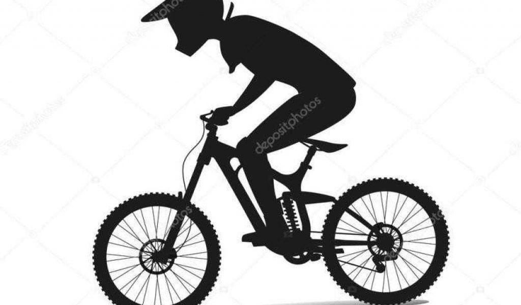 1024x600 Royalty Free Mountain Mountain Bike Silhouette Biker Silhouette