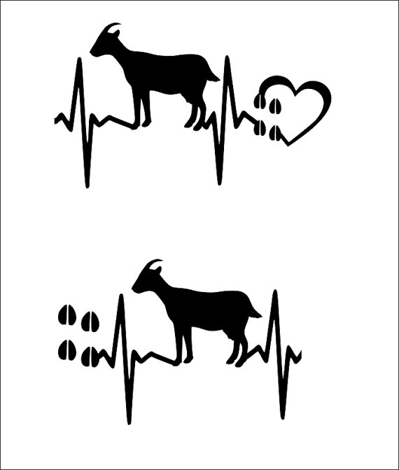 570x671 Svg Cut File Goat Heartbeat Hoof Marks With Heart Scrapbook