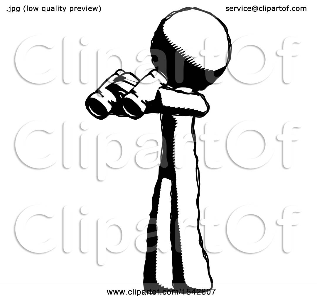 1080x1024 Ink Design Mascot Man Holding Binoculars Ready To Look Left By Leo