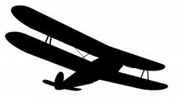 626x350 Biplane Silhouette Clipart Free
