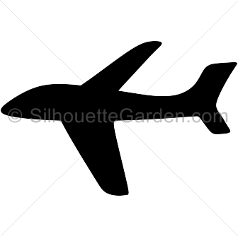 336x334 Clipart Airplane Silhouette Collection