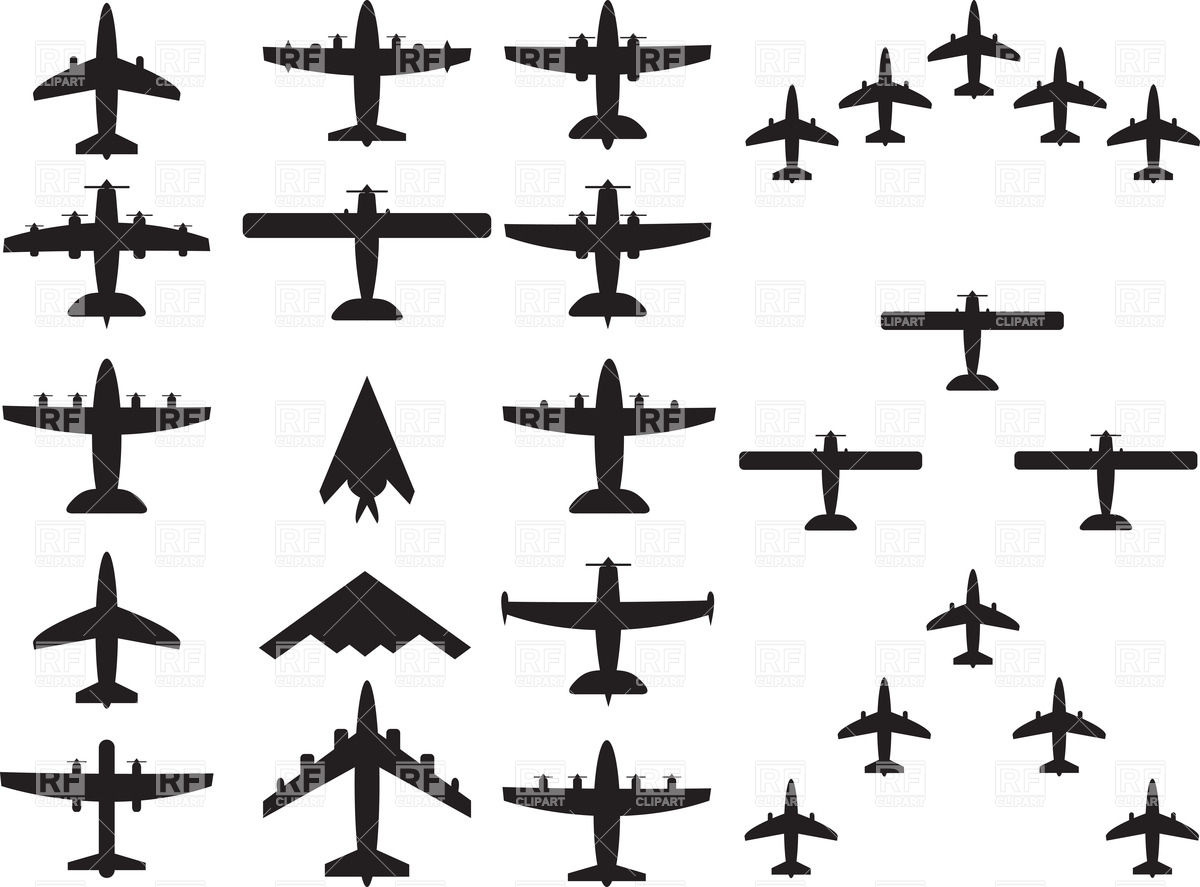 1200x887 Military And Civilian Airplane Silhouette